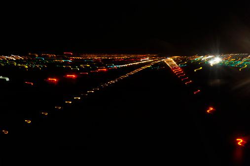 Kennedy Airport「Airport runway lights at night」:スマホ壁紙(1)