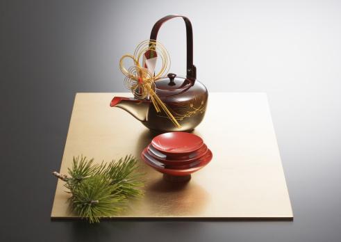 お正月「Sake set」:スマホ壁紙(14)