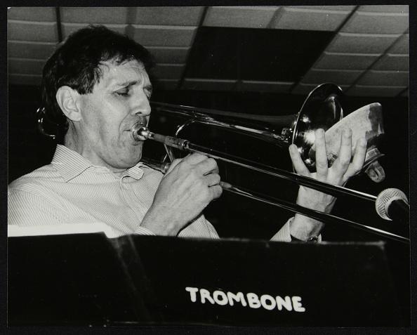 Musical instrument「Trombonist Derek Wadsworth playing at The Fairway, Welwyn Garden City, Hertfordshire, 28 July 1991. Artist: Denis Williams」:写真・画像(16)[壁紙.com]
