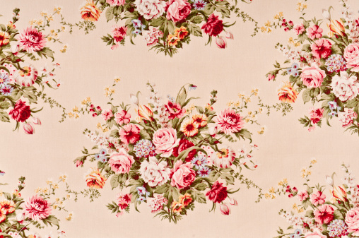Floral Pattern「Ahsley Rosette Close Up Antique Floral Fabric」:スマホ壁紙(14)