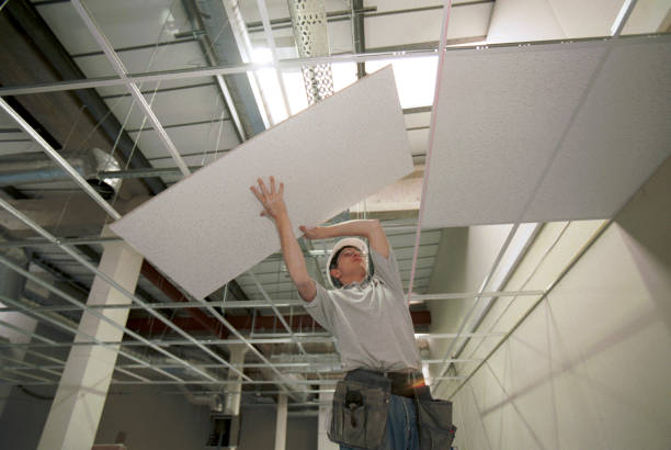 Fitting tiles into suspended ceiling grid:ニュース(壁紙.com)