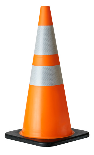 Cone Shape「Traffic Cone, isolated on white」:スマホ壁紙(6)