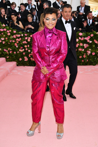 Hot Pink「The 2019 Met Gala Celebrating Camp: Notes on Fashion - Arrivals」:写真・画像(2)[壁紙.com]