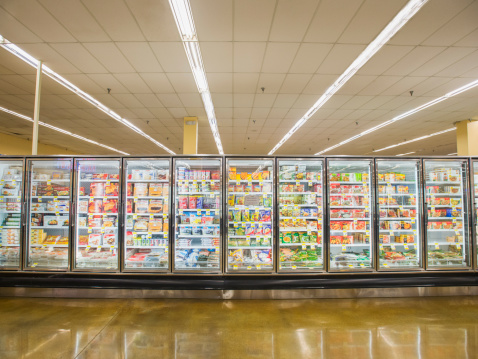 Supermarket「Frozen section of grocery store」:スマホ壁紙(4)