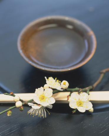 梅の花「Plum blossoms and bamboo chopsticks」:スマホ壁紙(5)