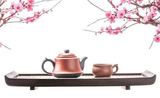 梅の花「Plum blossom and teapot」:スマホ壁紙(8)