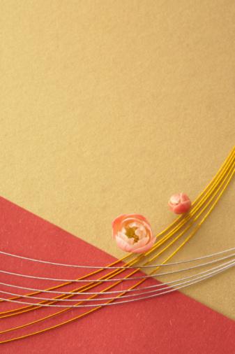 お正月「Plum blossoms and mizuhiki」:スマホ壁紙(9)
