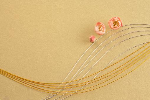 梅の花「Plum blossoms and mizuhiki」:スマホ壁紙(0)