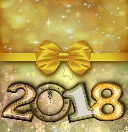 お正月「幸せな新年 2018」:スマホ壁紙(14)