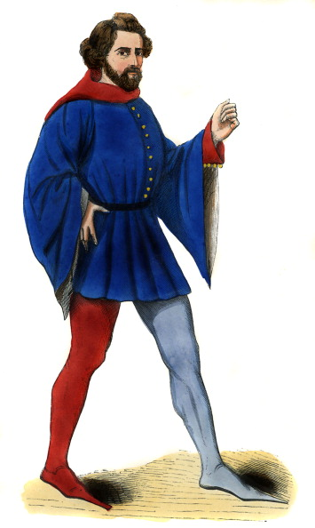 Circa 14th Century「Young Frenchman - costume of 14th century」:写真・画像(6)[壁紙.com]