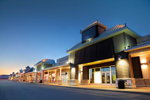 Building night view「Modern Marketplace Store Exteriors」:スマホ壁紙(14)