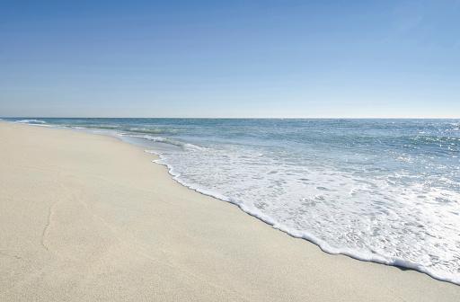 ビーチ「USA, Massachusetts, Nantucket, Beach with blue sky」:スマホ壁紙(12)