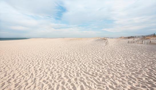 Fence「USA, Massachusetts, Chatham, Lighthouse Beach, Scenic view of beach」:スマホ壁紙(16)