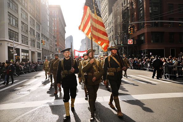 Veteran「President Trump Attends New York City's Veterans Day Parade, Drawing Protestors」:写真・画像(19)[壁紙.com]