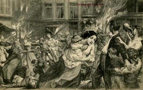 City Life「World War I: Destruction of Louvain by the Germans」:写真・画像(3)[壁紙.com]