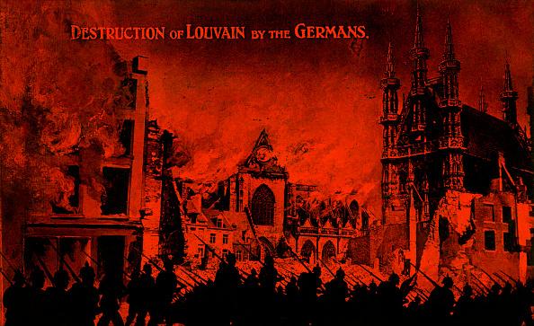 City Life「World War I: Destruction of Louvain by the Germans」:写真・画像(4)[壁紙.com]
