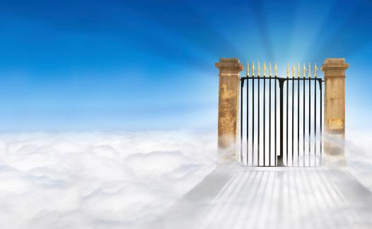 God「Heaven Gate on Clouds + copy space」:スマホ壁紙(15)