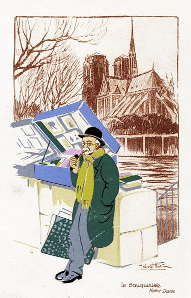 City Life「Book seller ('Le Bouquiniste), Paris, c. 1900」:写真・画像(6)[壁紙.com]