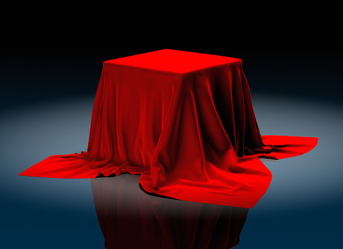Unrecognizable Person「Oversized Red Tablecloth」:スマホ壁紙(13)