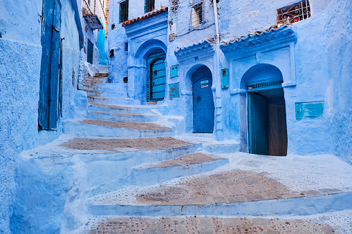 Morocco「Morocco, Rif area, Chefchaouen (Chaouen) town, the blue city」:スマホ壁紙(19)