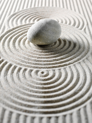 Japanese Rock Garden「One Pebble Three Circles for Feng Shui」:スマホ壁紙(13)