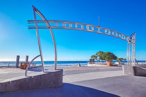 Queensland「Surfers Paradise Sign,Gold Coast,Queensland,Australia」:スマホ壁紙(13)