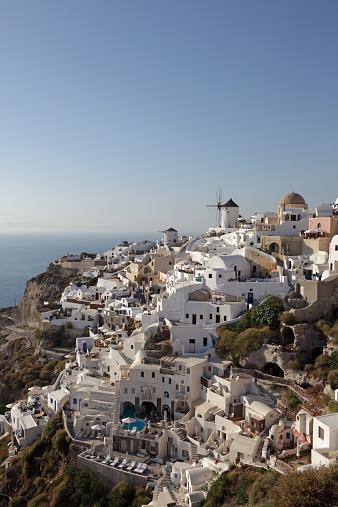 Aegean Sea「View of Oia in Santorini」:スマホ壁紙(18)