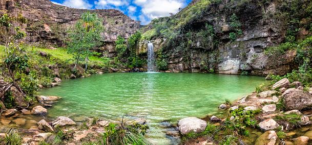 Tourism「Oasis or Quebrada Pacheco waterfall. The Gran Sabana Venezuela」:スマホ壁紙(3)