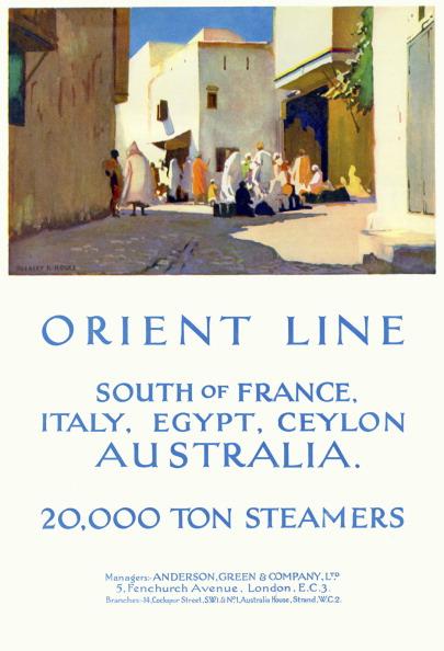 Passenger Craft「1930 Orient Line Travel Advertisement」:写真・画像(9)[壁紙.com]