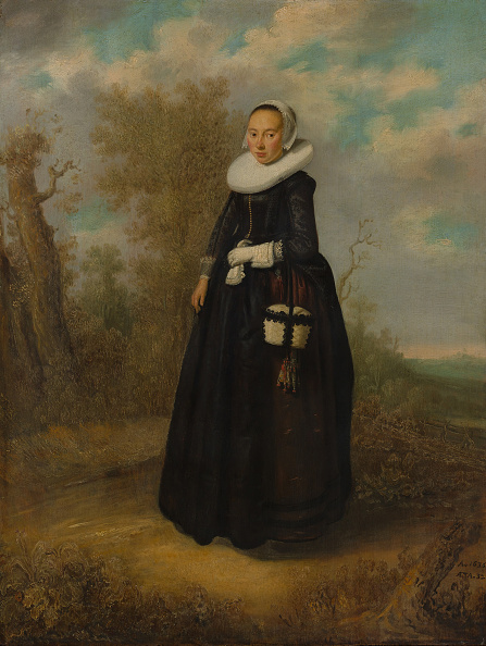 Purse「A Young Woman In A Landscape. Creator: Dutch Painter (Dated 1636).」:写真・画像(3)[壁紙.com]