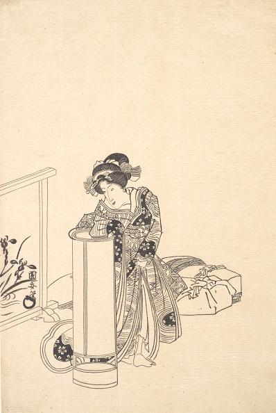 Electric Lamp「Young Woman Leaning Over A Tall Lamp. Creator: Utagawa Kuniyasu.」:写真・画像(9)[壁紙.com]