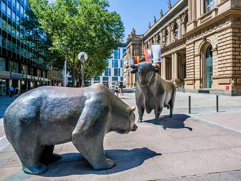 Trading「Bull & Bear at Frankfurt Stock Exchange」:スマホ壁紙(18)