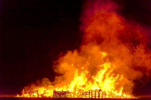 East Lothian「Great Britain, Scotland, East Lothian, Aberlady, Bonfire」:スマホ壁紙(1)