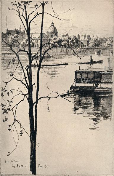 Etching「'Quai de Conti', 1915. Artist: Eugene Bejot.」:写真・画像(4)[壁紙.com]