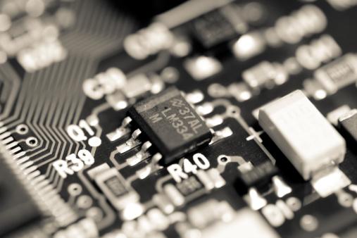 CPU「Hardware Circuit Macro, Black And White Image」:スマホ壁紙(6)