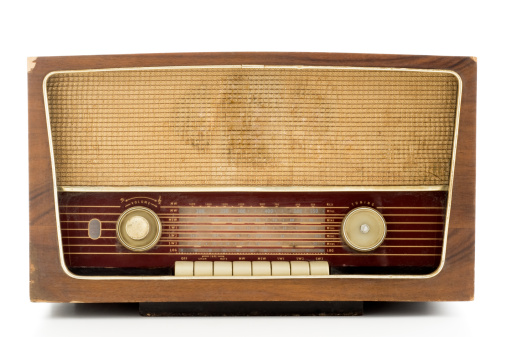 Radio Wave「Photo of a brown vintage radio with wooden casing」:スマホ壁紙(8)