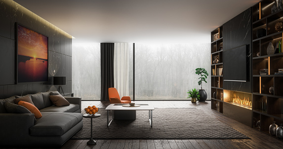 8K Resolution「Elegant Living Room」:スマホ壁紙(17)