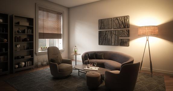 Illuminated「Elegant Living Room」:スマホ壁紙(12)