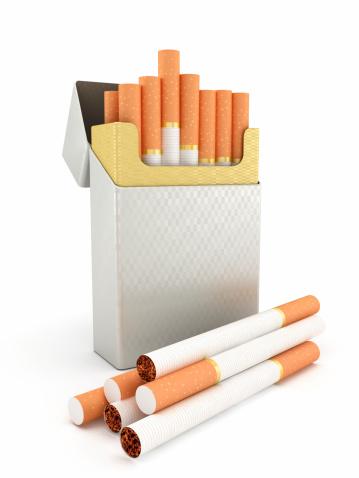 Clip Art「Cigarette box and cigarettes」:スマホ壁紙(6)