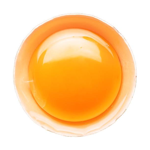 Fresh broken egg portion on white:スマホ壁紙(壁紙.com)