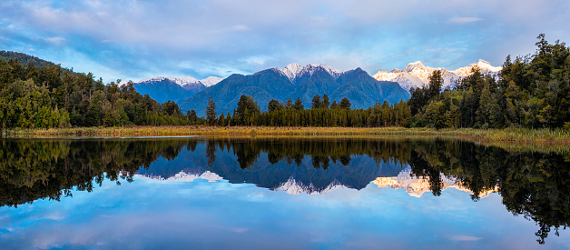 Westland - South Island New Zealand「Afternoon Light At Lake Matheson In New Zealand」:スマホ壁紙(14)