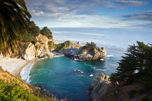 Julia Pfeiffer Burns State Park「Afternoon light at the classic Big Sur overlook in Julia Pfeiffer Burns State Park in California.」:スマホ壁紙(9)
