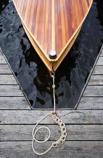 Adirondack Forest Preserve「Wood boat tied to dock」:スマホ壁紙(13)