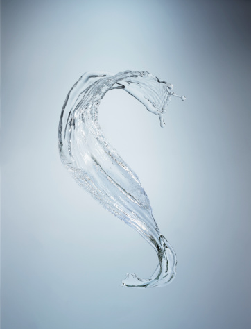 Mid-Air「Splash of water in mid-air close-up」:スマホ壁紙(15)