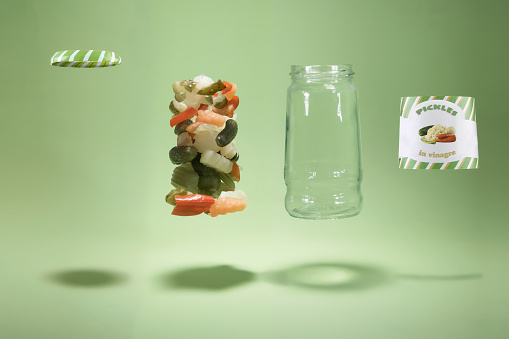 Green Background「Deconstructed pickle jar」:スマホ壁紙(14)