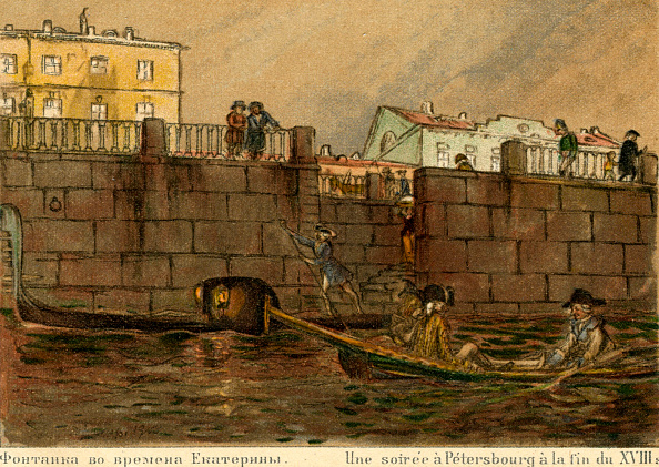 Rowing「St Petersburg at night - at end of 18th century」:写真・画像(18)[壁紙.com]
