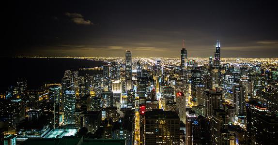 4k「シカゴのダウンタウンの夜景」:スマホ壁紙(16)