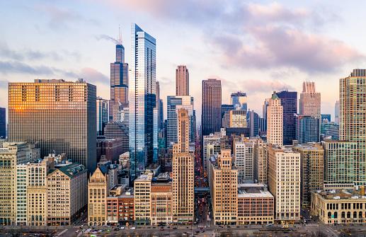 Urban Skyline「Downtown Chicago Cityscape From Grant Park」:スマホ壁紙(4)