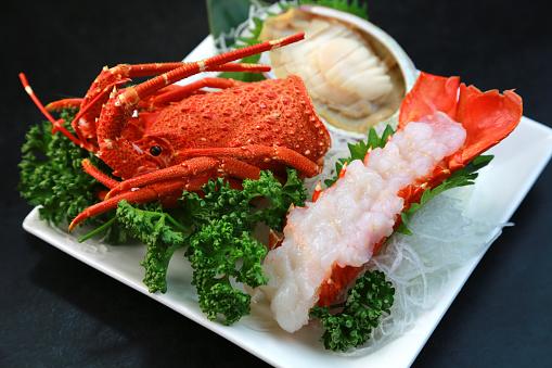 和食「Spiny lobster」:スマホ壁紙(19)