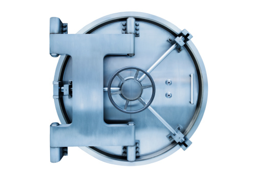 Safe - Security Equipment「Bank vault door on white background」:スマホ壁紙(17)
